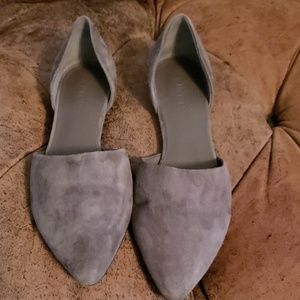 Vince d'orsay flats olive suede 37.5 fit 7 us new